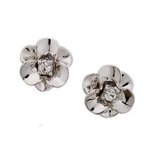 Kate Spade Silver Shine On Flower Earrings